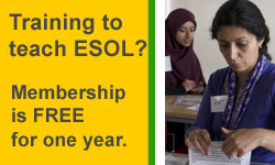 Free membership for ESOL trainee teachers
