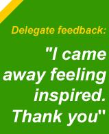 Delegate feedback
